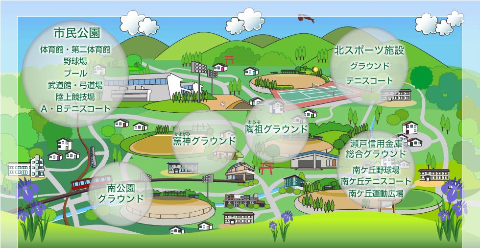 瀬戸市スポーツ施設メイン画像